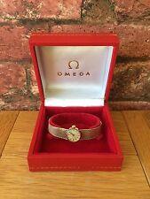 Superba Vintage Omega 9 KT GOLD SWISS Donna Mesh Bracelet Orologio Da Polso & Box