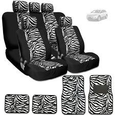 NEW PREMIUM BLACK MESH ANIMAL ZEBRA TIGER PRINT CAR SEAT COVERS MATS FOR FORD