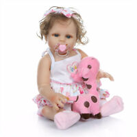 Lifelike Reborn Baby Girl Doll Full Body Vinyl Silicone Newborn Toy XMAS Gift