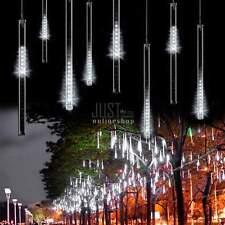 50CM 240LED 8 Rohre Meteor Dusche Regen Lichterkette Weihnachten Lichter DE