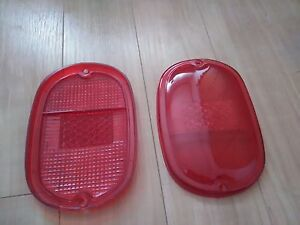 VW TYPE 2 BUS 1962-1971 REAR TAIL LIGHT LENS 2pcs RED FITS LEFT & RIGHT T2 Wagon