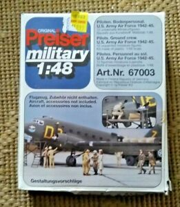 1/48 Preiser 1942-1945 U.S. Army Air Force Pilots and Ground Crew 12 NOS