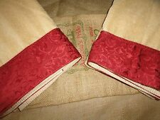 SATURDAY KNIGHT EMBELLISHED (2PC) OPUS GOLD BATH TOWEL SET CRIMSON COTTON 26X48