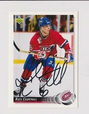 92/93 Upper Deck Russ Courtnall Montreal Canadiens Autographed Hockey Card
