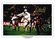 More details for large dominic matteo signed photo san siro goal coa leeds united autograph dom