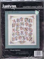 Janlynn Counted  Counted Cross Stitch  Kit CHERUB ALPHABET  Donna Giampa 125-118