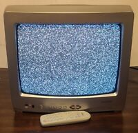"""Toshiba 13"""" CRT Tube TV Color Television With Remote Retro Gaming Front AV"""