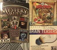 Mystery Vault Quest Brain Power Teasers PC CD-ROM Lot Of 3 Video Games