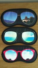 Novelty sun glasses Sleep eye mask travel cover aid sleeping shade men man