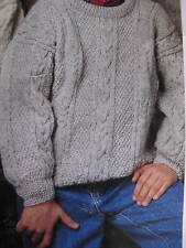 childs aran jumper/ cardigan size 7-12 years 8 ply