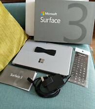 Microsoft Surface 3 - 64gb wifi keyboard original box barely used