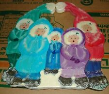 Christmas Carolers Daniel Kelleher 1930-2013 listed Pennsylvania Wood Sculpture