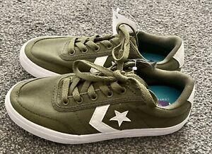 Converse Khaki Green Trainers Brand New Size Uk 2 Eur 34