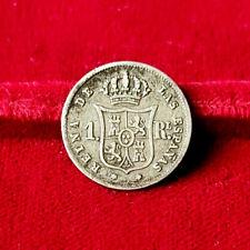 ESPAGNE - Isabelle II 1833 – 1868, 1 Real 1859 Madrid.