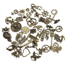 50pcs/lot Antique Bronze Assorted Carved Charms Pendants Metal Alloy Diy Beads