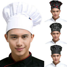 Professional Chef Hat Elastic Unisex Kitchen Cooking Baker Pleated Work Cap New