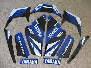 YAMAHA BLASTER BLUE/BLACK GRAPHICS  1987 1988 1989 2000 2001 2002