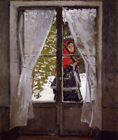 Nice Oil painting Claude Monet - The Red Kerchief, Portrait of Madame Monet