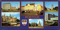 DDR Breitbild-AK Sonderformat Postkarte ROSTOCK ua. Interhotel Warnow uvm.