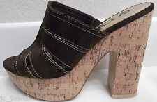 "ENVY PLATFORM BROWN SHOES HIGH HEELS  5"" HEELS LADIES 8 1/2 M"