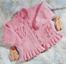 Knitting Pattern Baby Girls Beautiful Cardigan