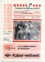 DDR-Liga 89/90 1. FC Union Berlin - BSG Schiffahrt / Hafen Rostock, 24.03.1990