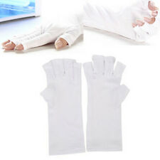 White Nail Art UV Gel Protection Gloves Polish Tips Anti-Ultraviolet Open-Toed