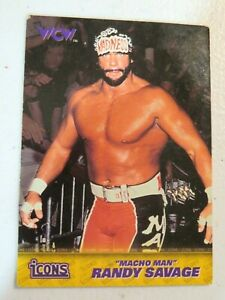 1998 Topps Icons WWF Card - Macho Man Randy Savage