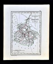 1841 Perrot France Map Departement des Ardennes - Mezieres Rethel Sedan Givet