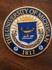 """University of Michigan 1817  Embroidered Iron On Patch 3"""""""
