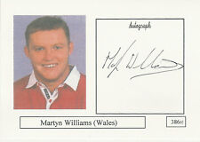 Martyn Williams WALES RUGBY PLAYER SIGNED PHOTO CARD ORIGINAL AUTOGRAPH