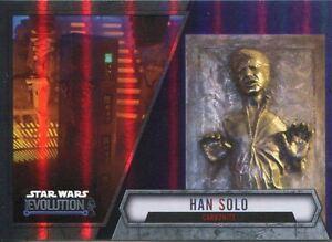 Star Wars Evolution 2016 Purple Parallel Card #43 Han Solo - Carbonite