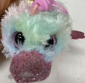 NEW TY Beanie Boos - Clip / Keyring Platypus Petunia For School Bag Hanging