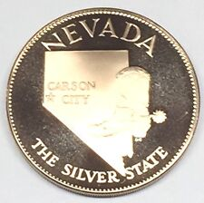 C2822   FRANKLIN  MINT  BRONZE    MEDAL,  STATE OF  NEVADA
