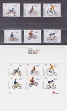 portugal 2000 Sc 2360/5,2365a bicycles,set Mnh m1733