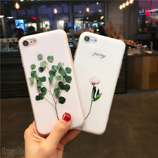 Ultra Thin Floral Pattern Rubber Soft TPU Gel Case Cover For iPhone 5 6S 7 Plus