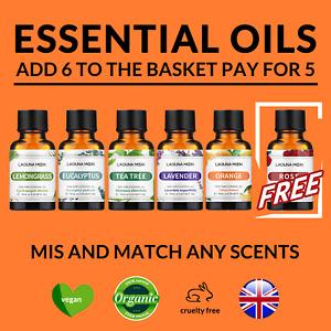 Lagunamoon Pure Natural Essential Oils Therapeutic Aroma Diffuser Fragrances oil
