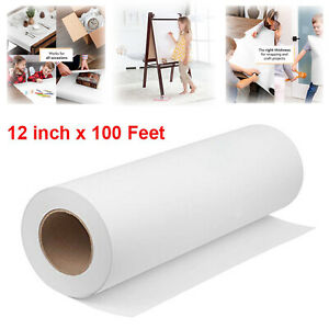 White Kraft arts and crafts paper roll for paints, wall art, easel