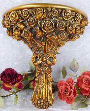 Wandkonsole Barock Hängekonsole Wandregal Konsole Antik Rosen Blumen Ablage Neu