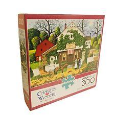 Charles Wysocki 300 Piece Jigsaw Puzzle Small Talk by Buffalo Games COMPLETE