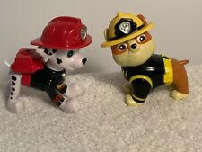 2 Paw Patrol Rescue Figures- Marshall & Rubble