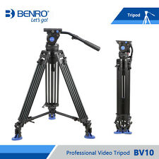 Benro BV10 Aluminum Alloy Twin Leg Video Tripod Kit, Includes Video Head