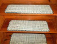 "14  Step  9"" x 28""   Stair Treads 100% Wool  Carpet"