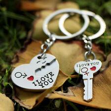 Creative I LOVE YOU Heart+Arrow+Key Couple Keychain Keyring Keyfob Lover Gift
