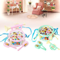 Trommel Spielzeug Kit 6x Kid Baby Boy Girl Musical Instrum Ban Children Gifts Nu