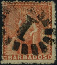 "Barbados 1860 ""Sitzende Britannia"" braunrot, MiNr 8 b  gestempelt   used"