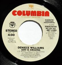 DENIECE WILLIAMS GOD IS AMAZING / JOHNNIE TAYLOR GOD IS STANDING BY 45 RPM PROMO