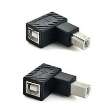 Angle USB 2.0 Type B Male to Female Adapter Printer Scanner Converter Connector