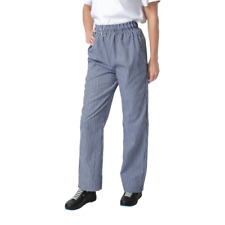 More details for whites chefs apparel men's vegas trousers blue and white check pants
