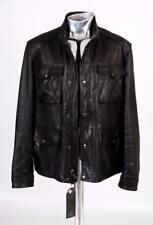 Coach Heavy Leather Field Jacket Black Large EU52 RRP £1000 New York
